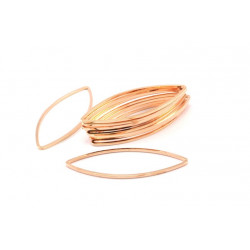 Support Marquise Doré Rose 16x41x0.8mm (x1)