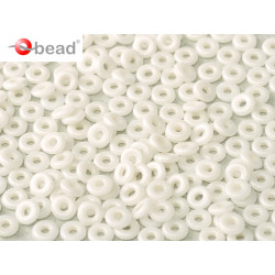 Perle en verre de Bohème O Bead® Alabaster 4x2mm (X 5gr)