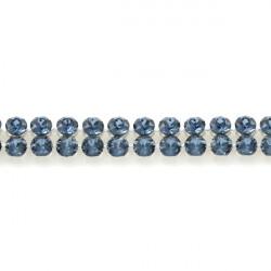 Crystal Mesh Swarovski 40001 2 Cabochons Denim Blue (X 1)
