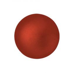 Cabochon Verre 18mm Red Metallic Mat (X1)
