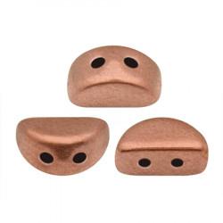 Perles Kos® par Puca® 3x6mm Copper Gold Mat (x5gr)