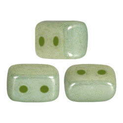 Perles Ios® par Puca® 5,5x2,5 mm Opaque Light Green Ceramic Look (x5g)