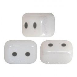 Perles Ios® par Puca® 5,5x2,5 mm Opaque White Ceramic Look (x5g)