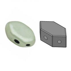 Perles Paros® par Puca® 4x7mm Opaque Light Green Ceramic Look (x5g)
