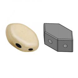 Perles Paros® par Puca® 4x7mm Opaque Beige Ceramic Look (x5g)