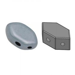 Perles Paros® par Puca® 4x7mm Opaque Blue Ceramic Look (x5g)