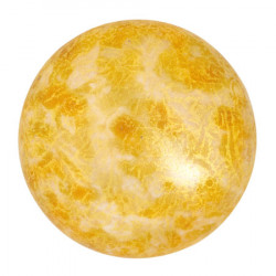 Cabochon Verre 25mm Opaque Beige Spotted (X1)