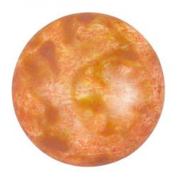 Cabochon Verre 25mm Opaque Salmon Spotted (X1)