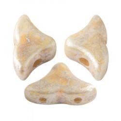 Perles Hélios® par Puca® 5x7mm Opaque Ivory Spotted (x5gr)