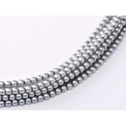 Perles Matted 2 mm Grey Satin (X1200 perles)