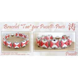 Kit Bracelet Tao par Puca® White Indian Peach