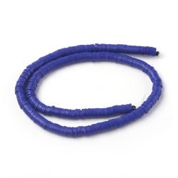 Perles Heishi Polymère Bleu Moyen 6x1mm (x1fil)