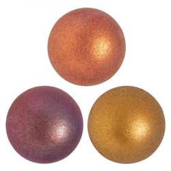 Cabochon Verre 25mm Yellow Gold Mat Iris (X1)