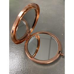 Miroir Rond métal Rose Gold (X1)
