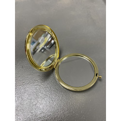 Miroir Rond métal Gold (X1)