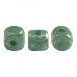 Perles Minos® Par Puca® Opaque Green Turquoise New Picasso (x5gr)