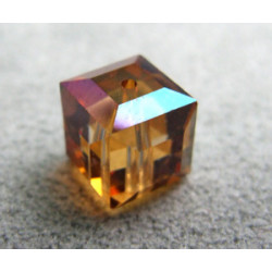 Perle cube en cristal Swarovski 5601 8mm Crystal Copper (x1)