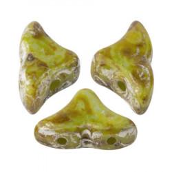 Perles Hélios® par Puca® 5x7mm Opaque Green Turquoise New Picasso (x5gr