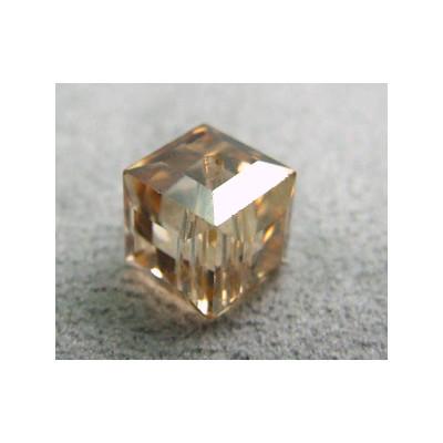 Perle cube en cristal Swarovski 5601 8mm Golden Shadow (x1)