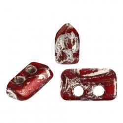 Perles Piros ® par Puca® Opaque Red New Picasso (X5gr)