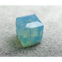Perle cube en cristal Swarovski 5601 8mm Pacific Opal (x1)