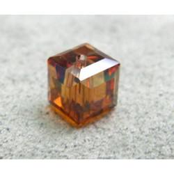 Perle cube en cristal Swarovski 5601 6mm Crystal Copper (x1)