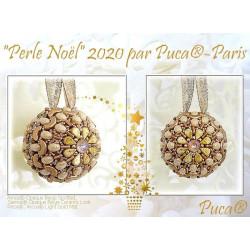 Kit Perle Noël Dorée et Beige par Puca