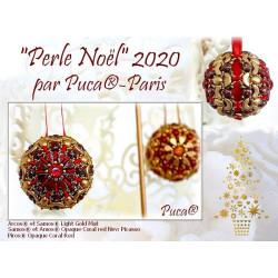 Kit Perle Noël Or Mat et Red par Puca