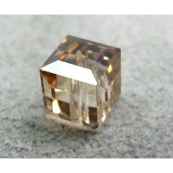 Perle cube en cristal Swarovski 5601 6mm Golden Shadow (x1)