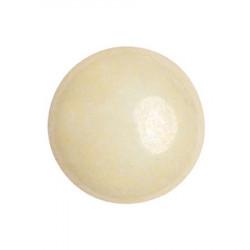 Cabochon Verre 18mm Opaque Ivory Ceramic Look (X1)