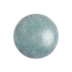 Cabochon Verre 18mm Opaque Blue Ceramic Look (X1)