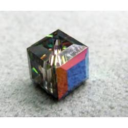 Perle cube en cristal Swarovski 5601 6mm Vitrail Médium (x1)