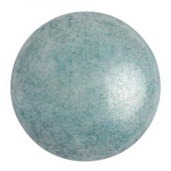 Cabochon Verre 25mm Opaque Blue Ceramic Look (X1)