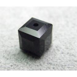 Perle cube en cristal Swarovski 5601 6mm Jet (x1)