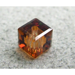 Perle cube en cristal Swarovski 5601 4mm Crystal Copper (x1)