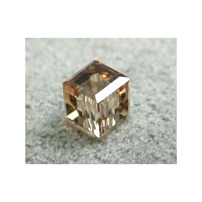 Perle cube en cristal Swarovski 5601 4mm Crystal Golden Shadow (x1)