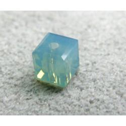 Perle cube en cristal Swarovski 5601 4mm Pacific Opal (x1)