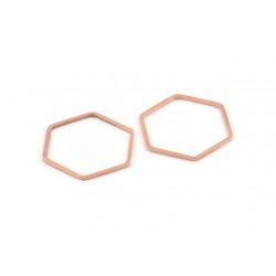 Support Hexagone Rose 25x1mm (x1)