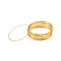 Support Rond Doré à l'or fin 50X1mm(x1)