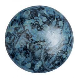 Cabochon Verre 25mm Metallic Mat Blue Spotted (X1)