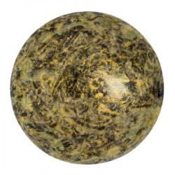 Cabochon Verre 25mm Metallic Mat Old Gold Spotted (X1)