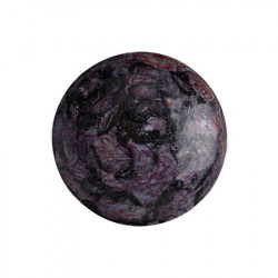 Cabochon Verre 18mm Metallic Mat Violet Spotted (X1)