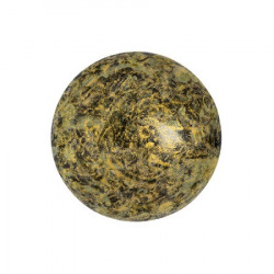 Cabochon Verre 18mm Metallic Mat Old Gold Spotted (X1)