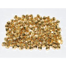Perles Toupies 3mm Préciosa Aurum (X20)