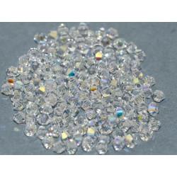 Perles Toupies 4mm Préciosa Crystal Ab (X20)
