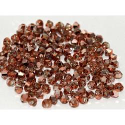 Perles Toupies 4mm Préciosa Crystal Capri Gold (X20)