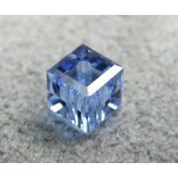 Perle cube en cristal Swarovski 5601 4mm Light Sapphire (x1)