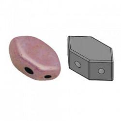 Perles Paros® par Puca® 4x7mm Opaque Mix Violet Gold Ceramic Look (x5g)