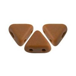 Perles khéops® par Puca® Opaque Chocolat Mat 6x3mm (X5gr)