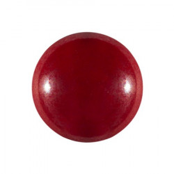 Cabochon Verre 18mm Opaque Coral Red Luster (X1)